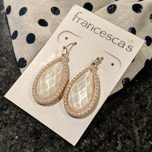 Francesca's Collection Glitter Stone Earrings